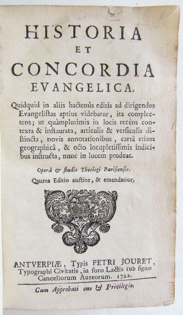 Historia et Concordia Evangelica, 1722 - 2