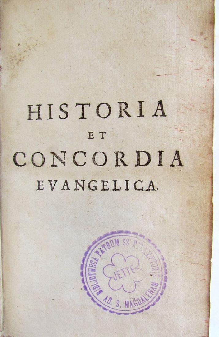 Historia et Concordia Evangelica, 1722 - 3