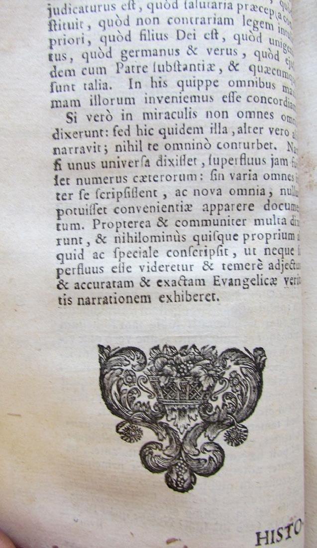 Historia et Concordia Evangelica, 1722 - 5