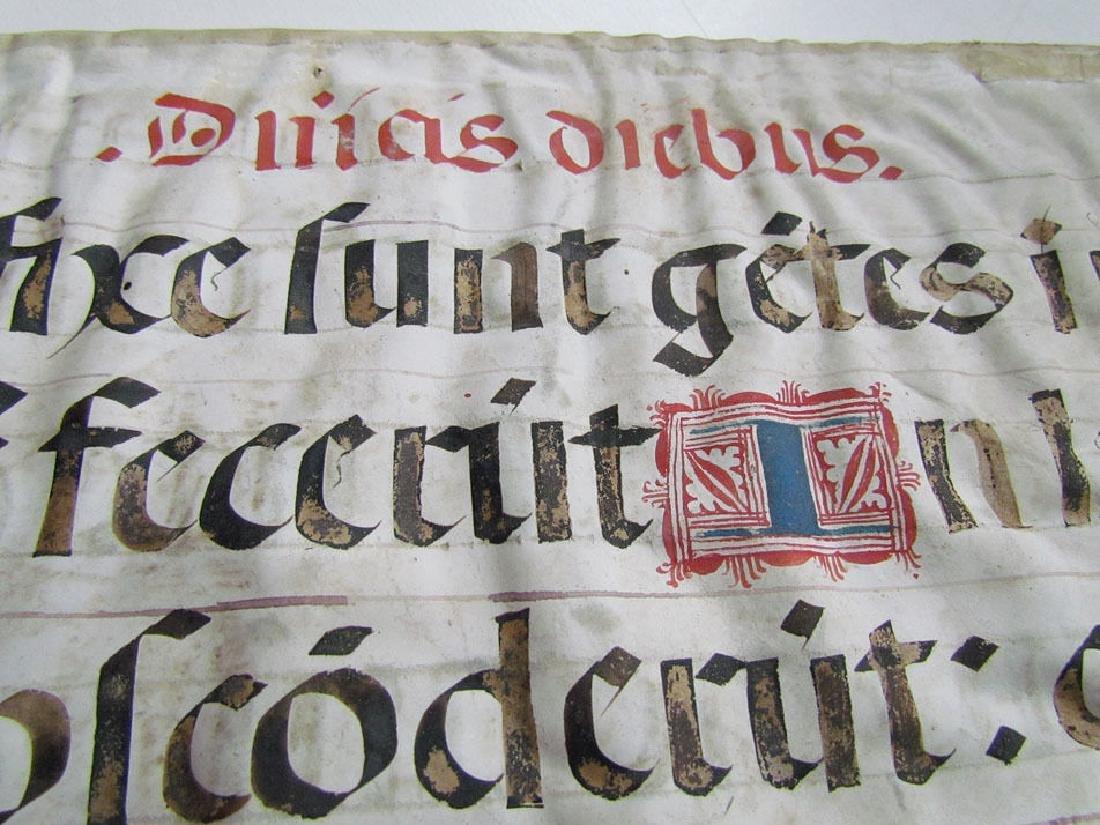 16th Century Hand Written Vellum Leaf - 4