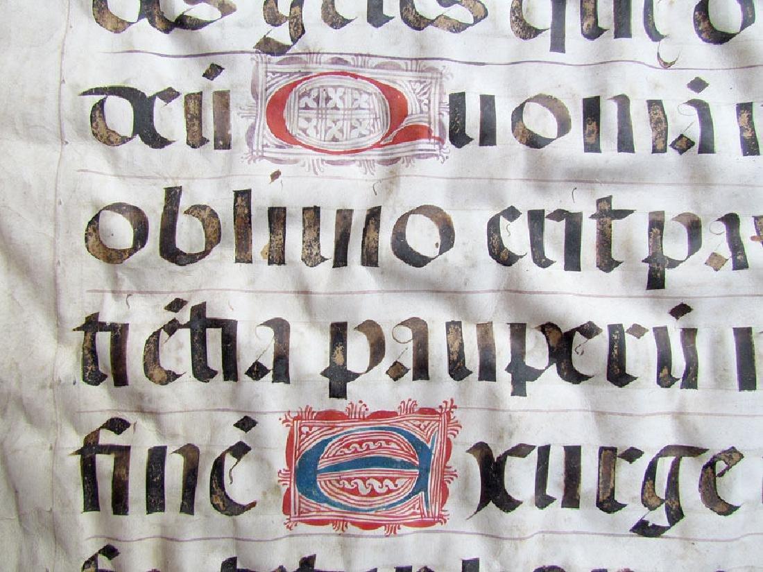 16th Century Hand Written Vellum Leaf - 6
