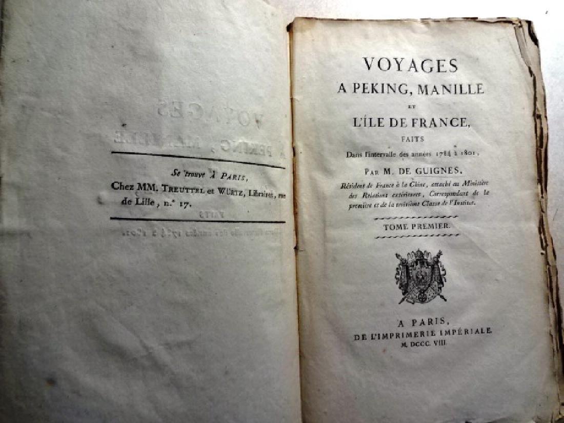 3 Volumes Voyages Peking Manila, Guignes - 2