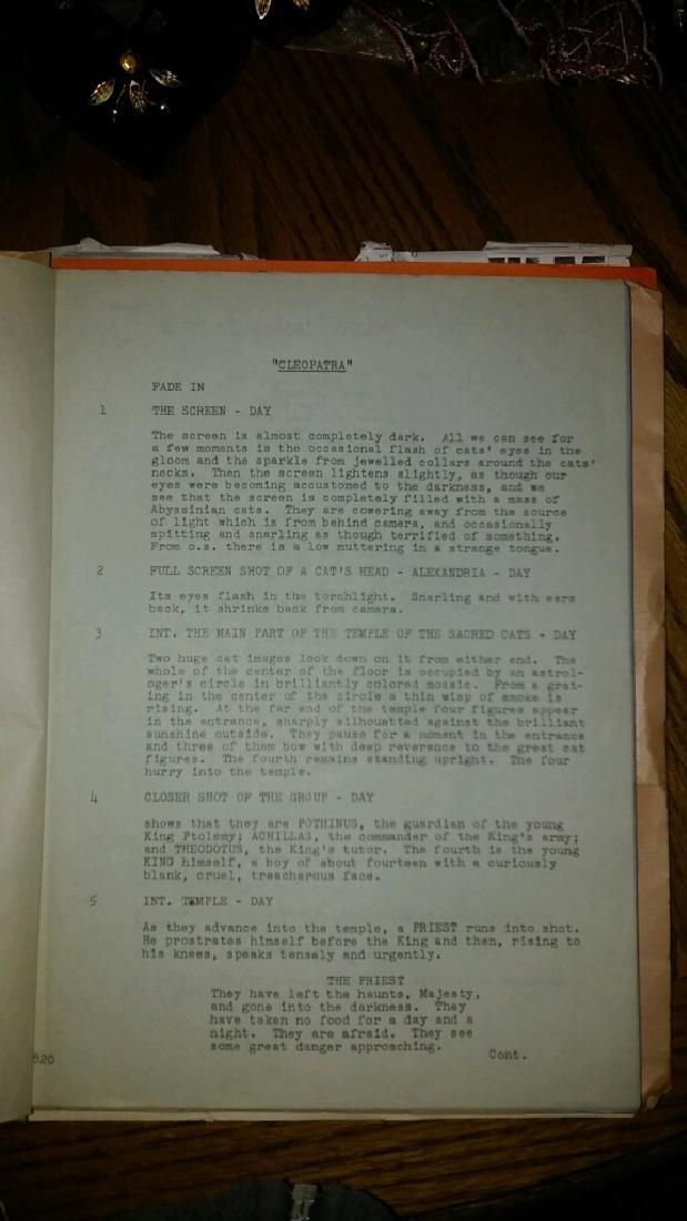 Cleopatra Script 1959 - 2