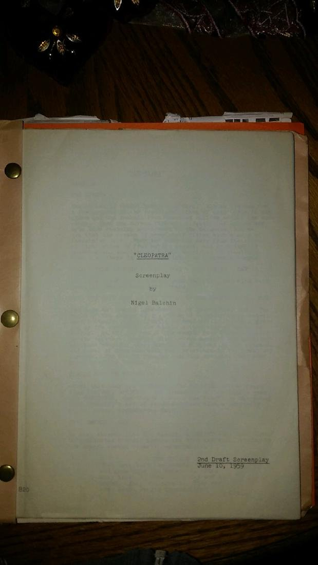 Cleopatra Script 1959 - 3