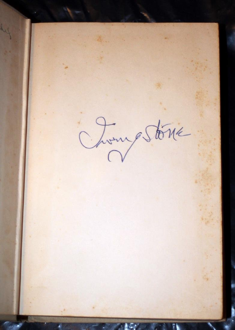 Irving Stone: the Agony & the Ecstasy, 1961, Signed