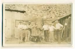 Arizona Gold Mining Real Photograph Postcard, 1934