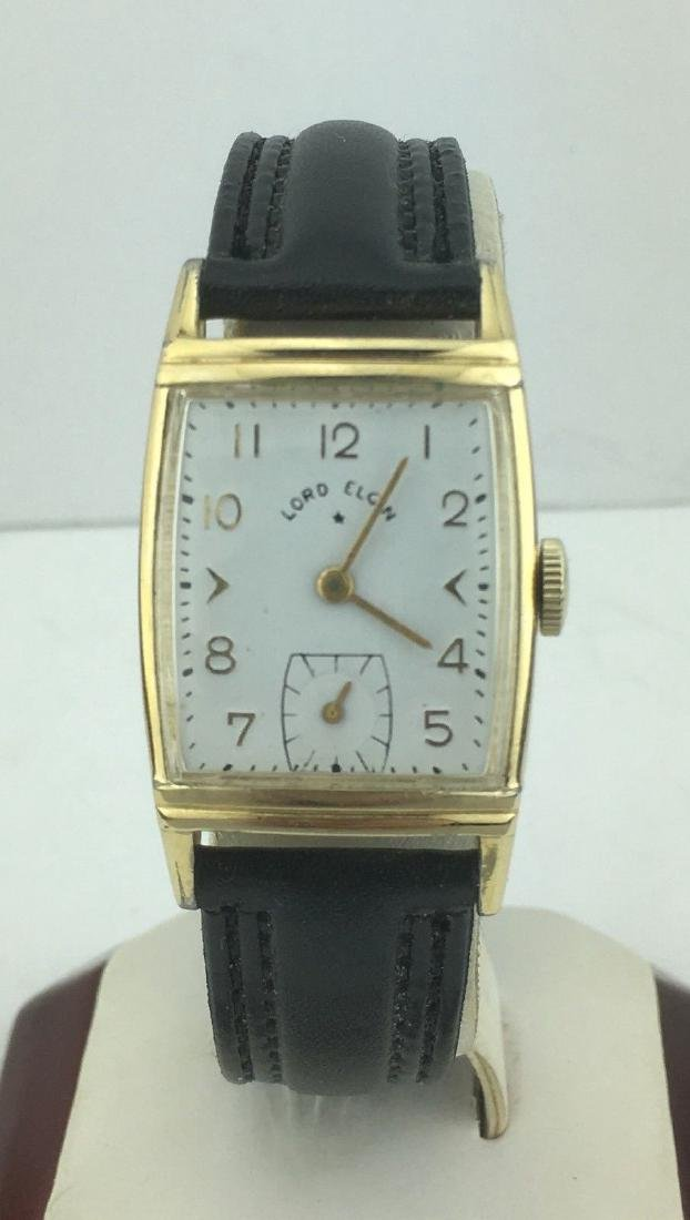 Lord Elgin Curved 14k Gold Filled Watch