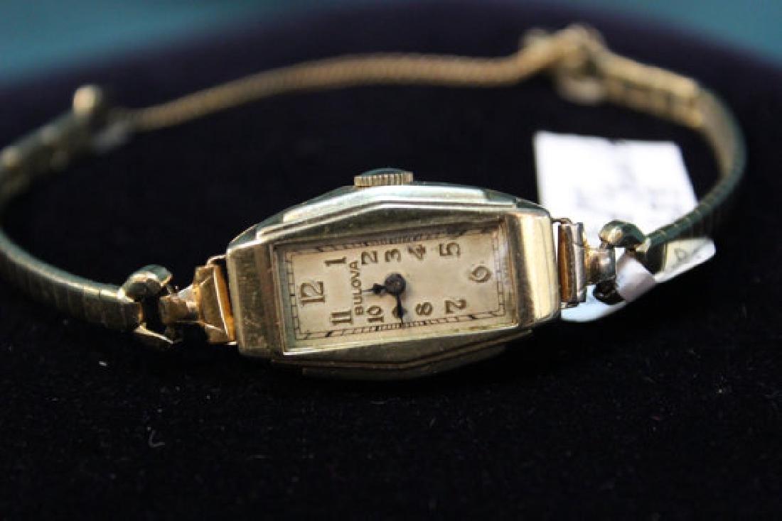 Ladies Bulova 10K Gold Plate Wrist Watch, 1920