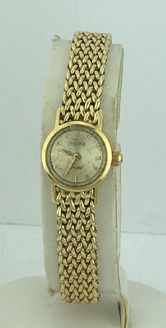 Rolex Orchid 14K Gold Ladies Wind Up Watch & Band