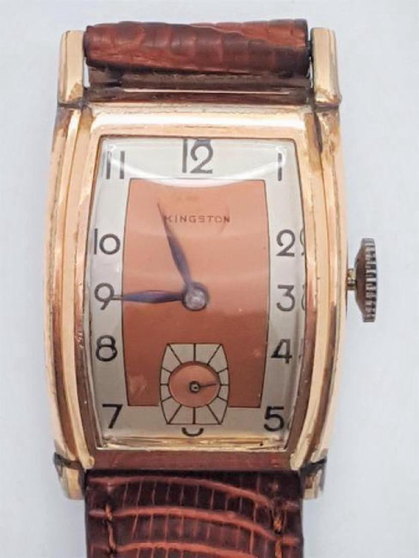 Vintage Kingston Swiss Rose Gold Men's Wrist Watch