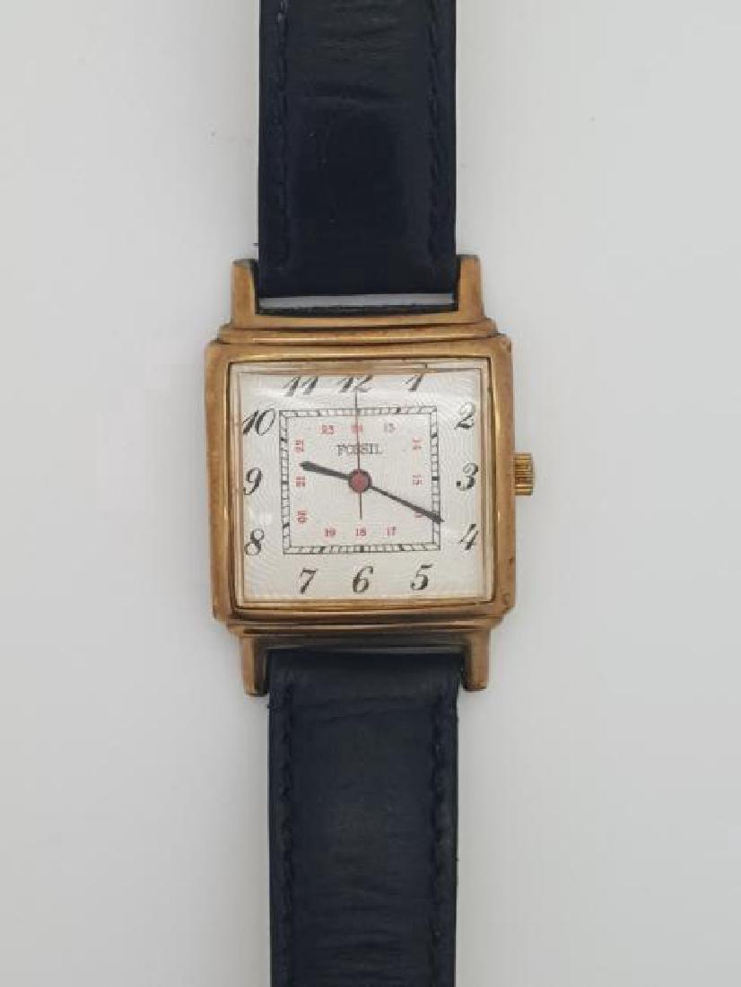 Vintage Fossil 10K Gold Filled Men's Wrist Watch