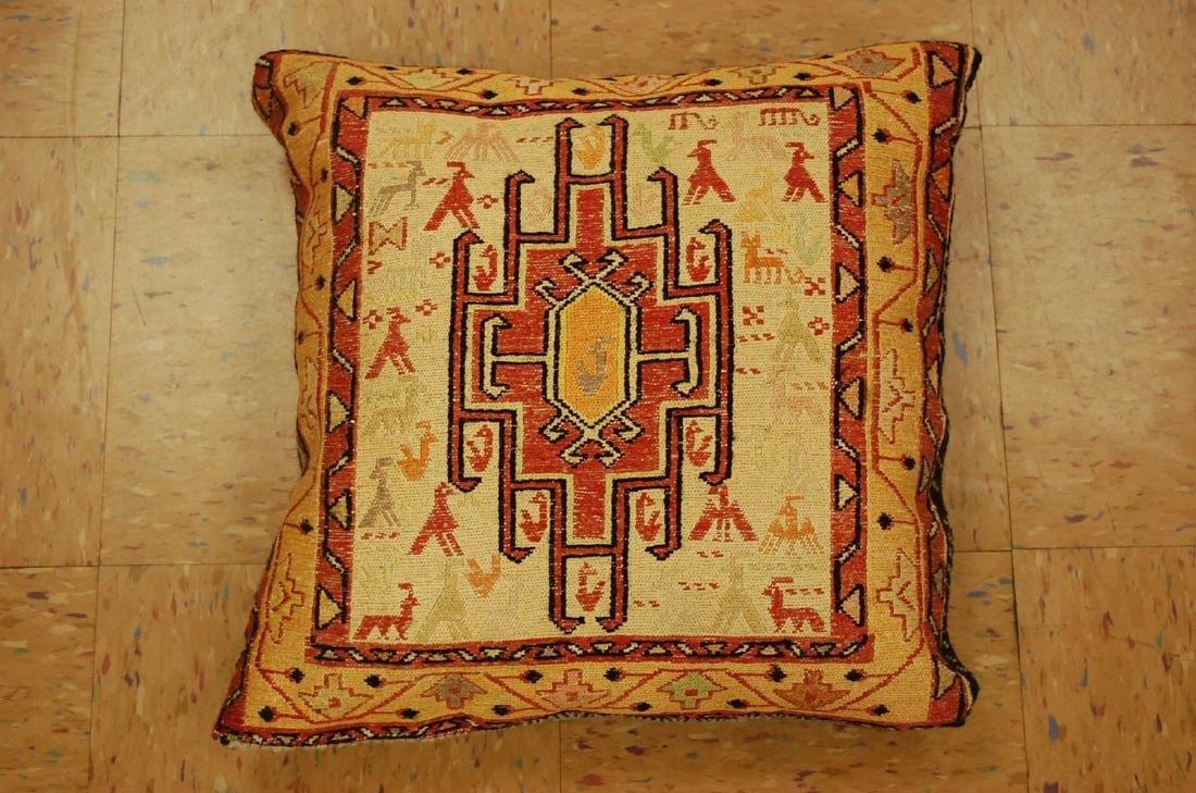 Silk Caucasian Pillow Rug 1.5x1.5