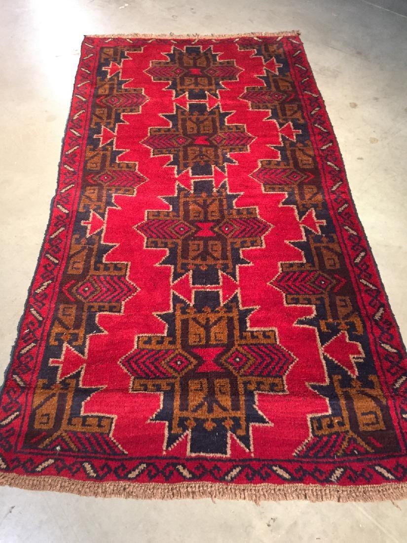 Hand Knotted Wool Afghan Tribal Rug 3.7x6.6