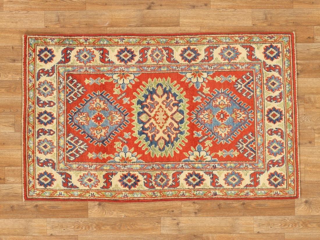 Tribal Handmade Wool Kazak Rug 2.7x4.4
