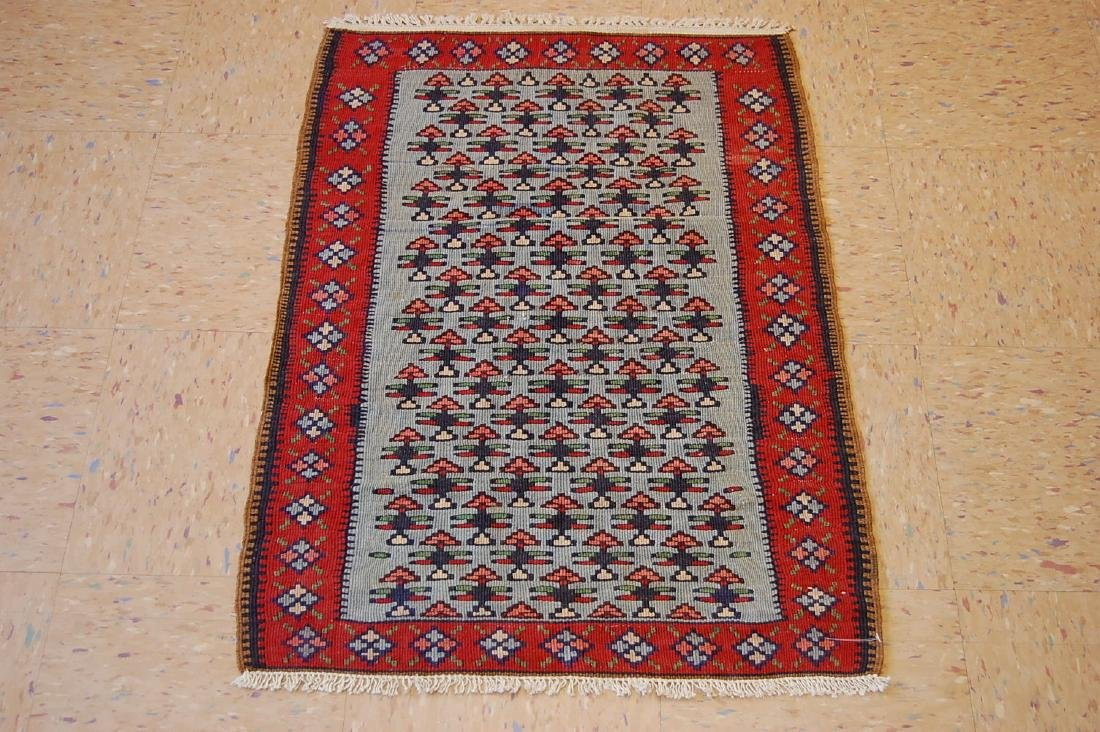 Antique Persian Senneh Kilim Rug 2.2x3