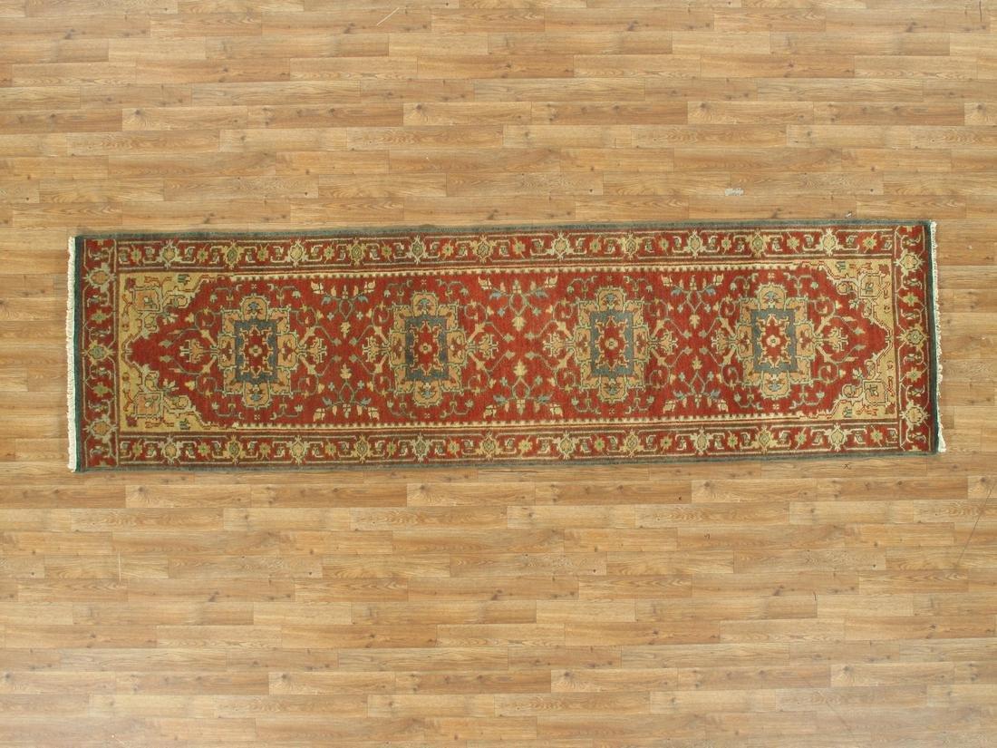 Handmade Wool Serapi Runner Rug 2.9x10