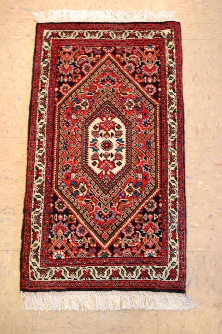 Antique Persian Bijar Rug 1.5x2.6