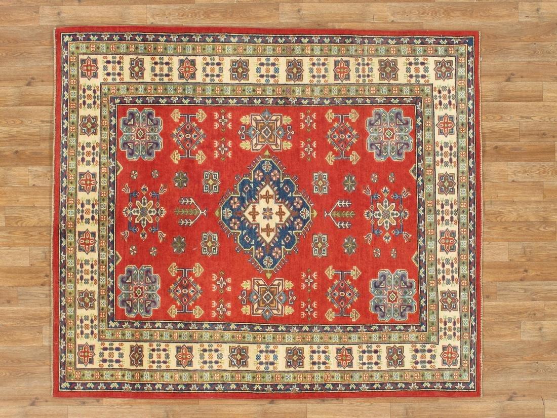 Handmade Wool Kazak Tribal Rug 5.1x5.10