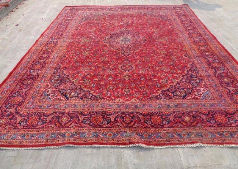 Persian Kashan Rug 12.6x9.9