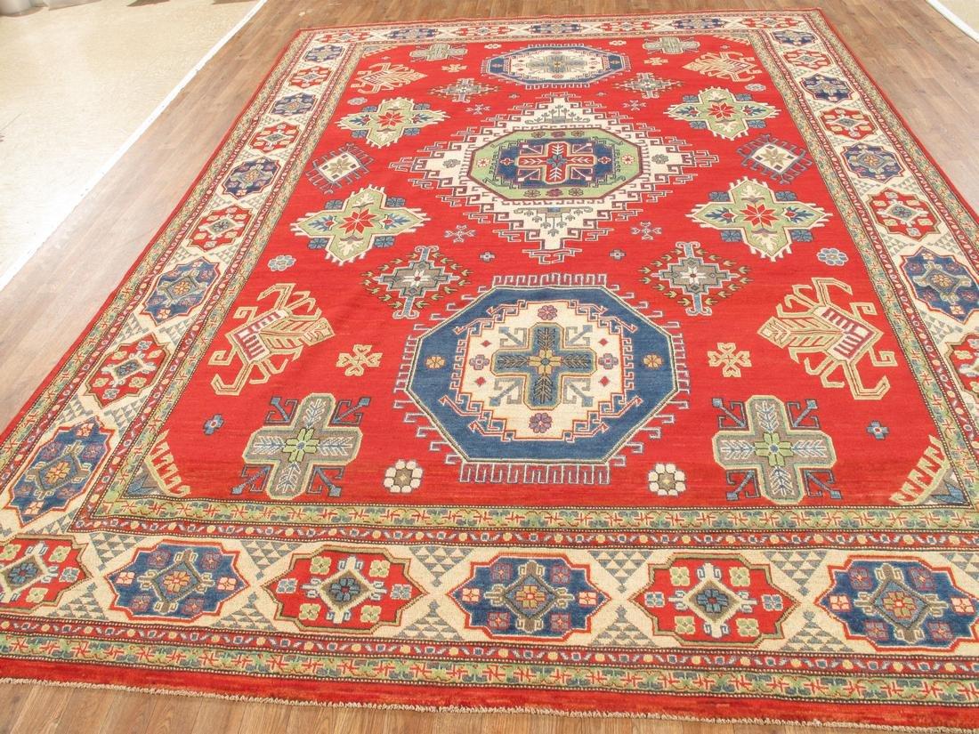 Handmade Wool Kazak Tribal Rug 8.7x12