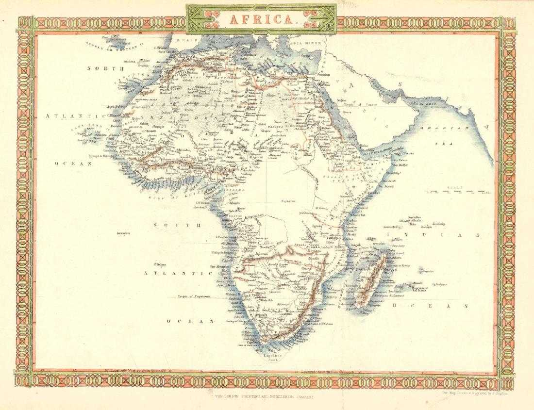 Map Of Africa 1850.J Rapkin Map Of Africa 1850