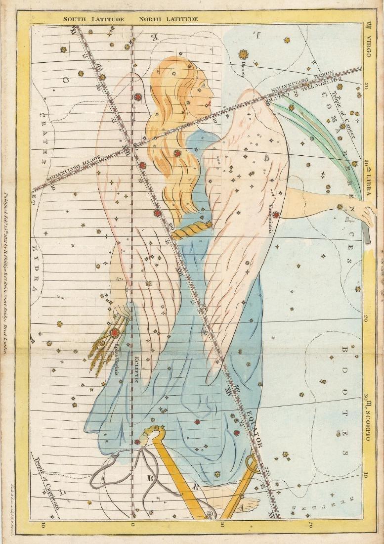 Virgo Constellation Map, 1821