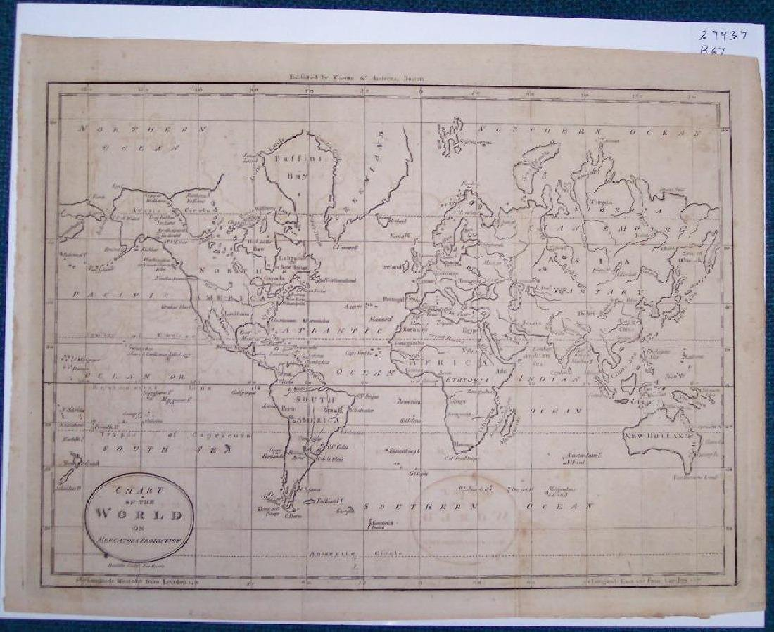 Chart of the World On Mercators Projection, 1796