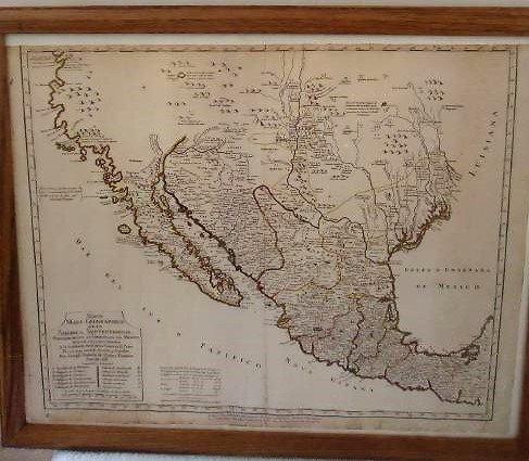 Mapa Geographitico De La America septentrional Mexico
