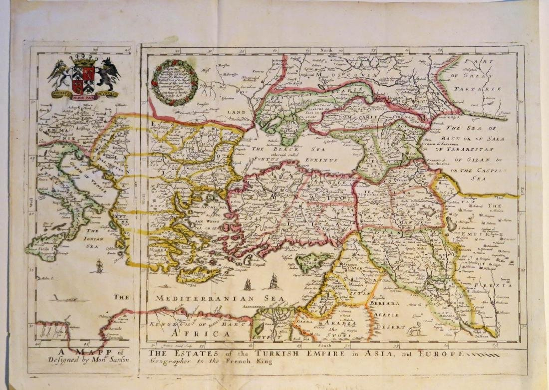 Blome: Map of Turkish Empire in Asia & Europe, 1682