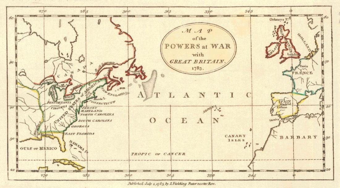 I. Fielding: Powers at War With Great Britain, 1783