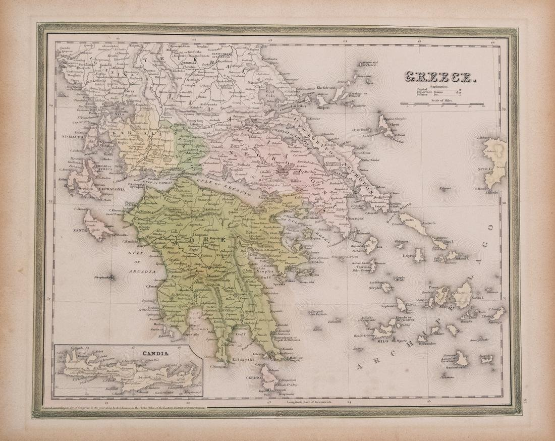 Tanner Map of Greece, 1836