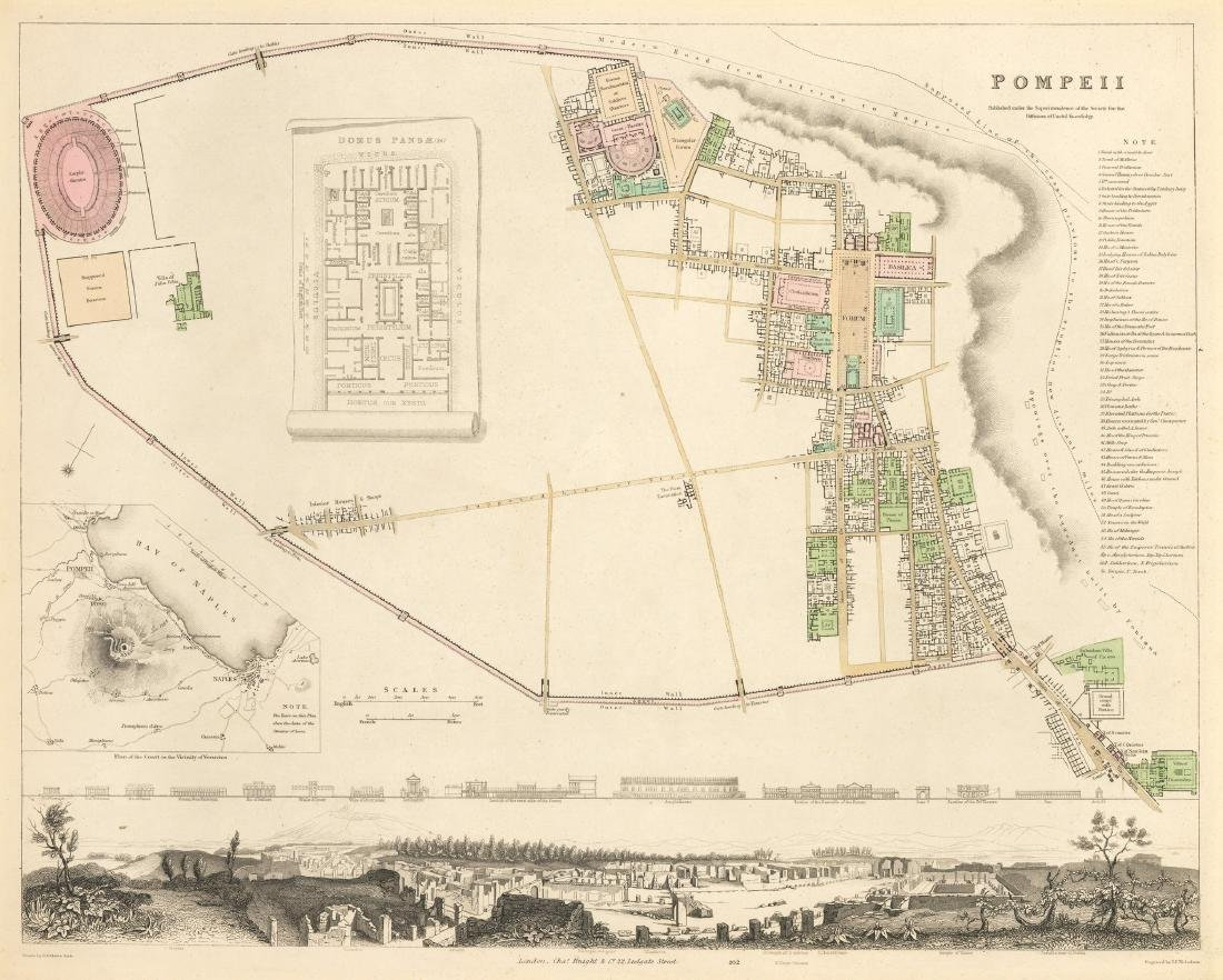 Baldwin & Craddock: Map of Pompeii, 1832