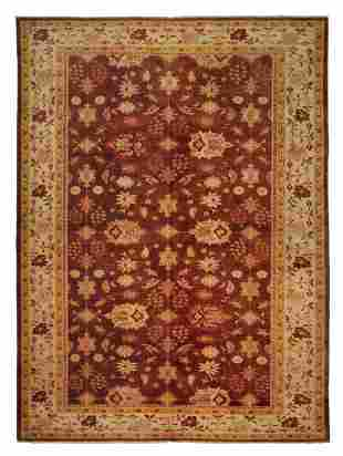 Vintage Mahal Hand Knotted Wool Egyptian Rug 10x14