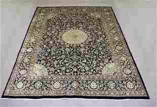 Detailed Handmade Persian Kashmar Rug 10x12