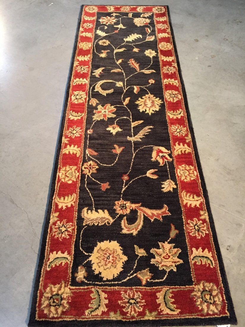 Traditional Hand Tufted Runner Rug 2.4x8