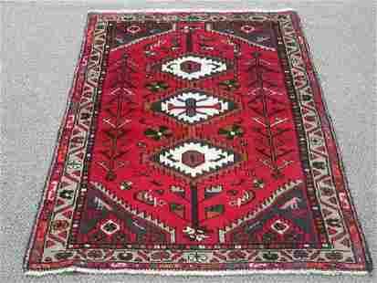 Handmade Persian Hamadan Rug 5x3