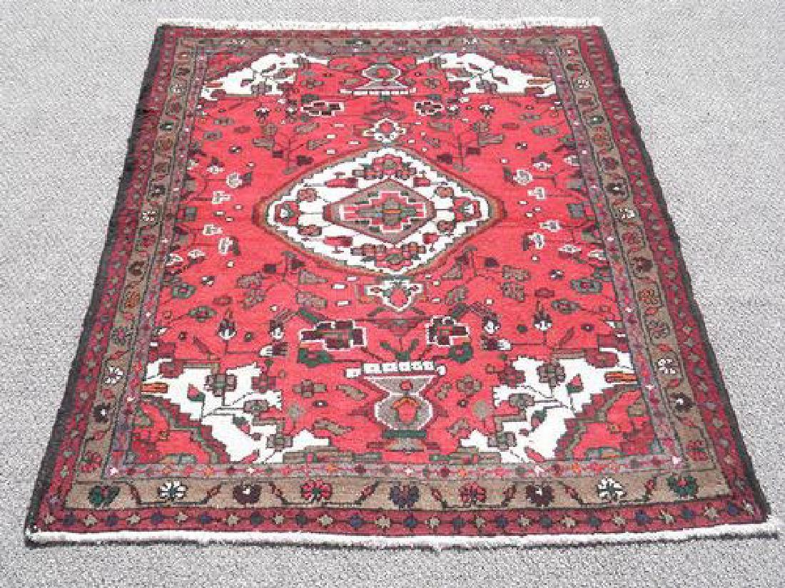 Hand Made Persian Hamadan Rug 4x3