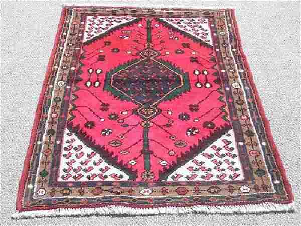 Highly Detailed Hand Woven Persian Hamadan Rug 5x3