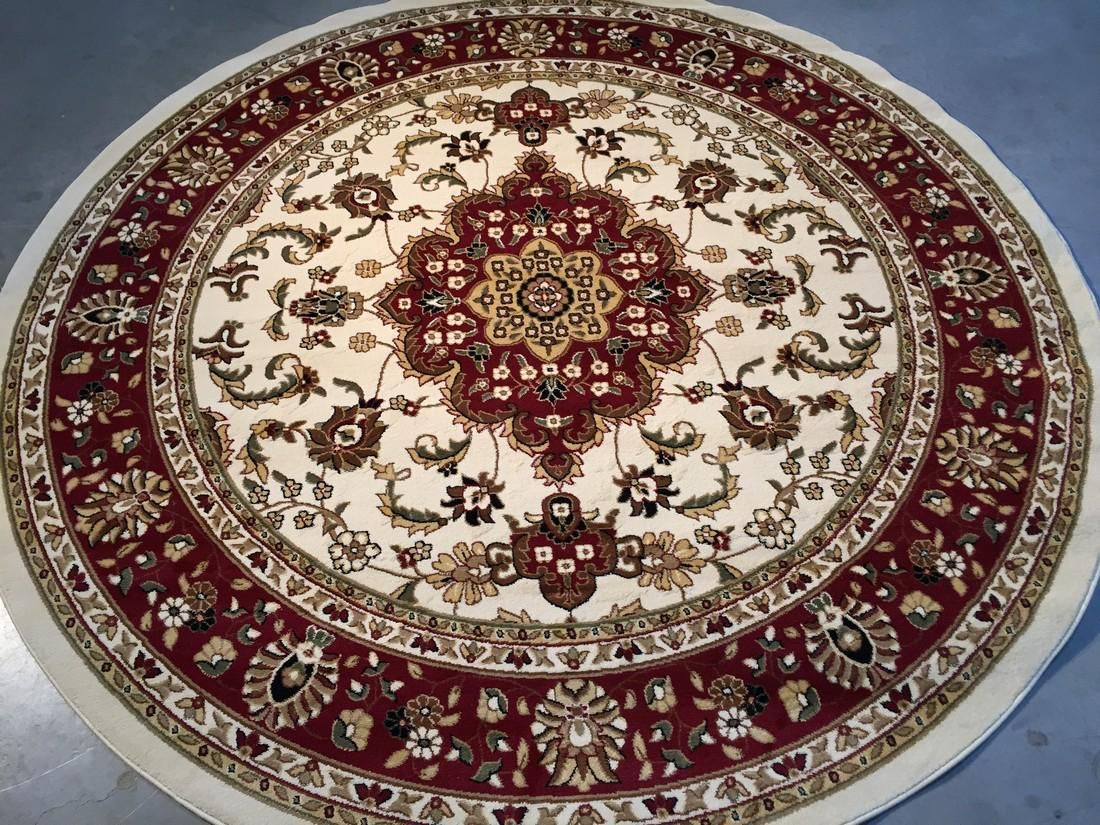 Traditional Persian Medallion Round Rug 7.10x7.10