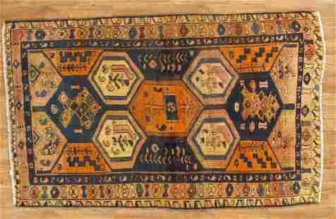 Tribal Handmade Wool Hamadan Rug 4 x7
