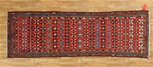 Handmade Kazak Wool Persian Runner Rug 3x10