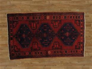 Handmade Wool Hamadan Rug 4x7