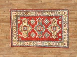 Handmade Pakistan Kazak Rug 4x6