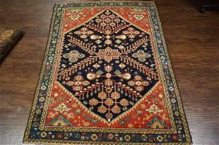 Antique Hand Woven Persian Sarouk Rug 4x5
