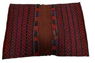 Antique Northwest Persian Handwoven Saddlebag Rug 3x4