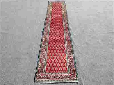 Highly Detailed Persian Tabriz Runner Rug 14x2