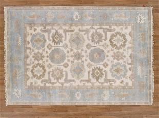 Handmade Wool Oushak Area Rug 6x9