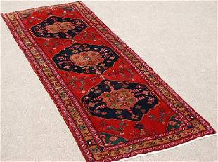 Hand Woven Persian Ahar Rug 4x11