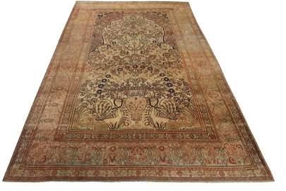Antique Mohtasham Kashan Persian Rug 7x10