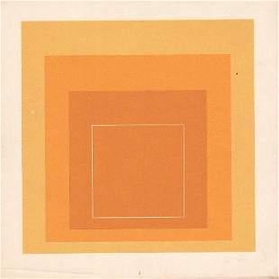 Josef Albers: Yellow squares